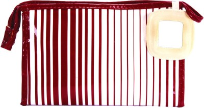 PRETTY KRAFTS Travel Vanity Kit Stripes - Maroon Makeup Vanity Box