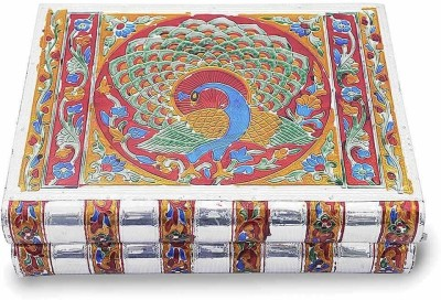 Little India Metal Colorful Meenakari Work Box -174 Jewellery Vanity Box