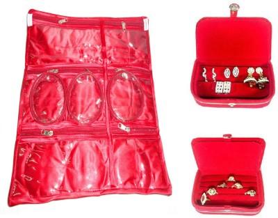 Atorakushon Jewellery Makeup Cosmetic Bag Ring Box & Earring Box Storage Pouch Vanity Box