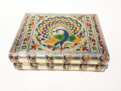 Akshar Furniture Bangle Box Peacock Colourful Makeup Vanity Box