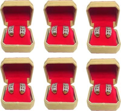 Addyz pack of 6 red single pair Earring, Tops, studs jewellery Vanity Box