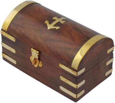 Craft Art India Beautiful Handmade Wooden Storage With Brass Designing Jewellery Vanity Box
