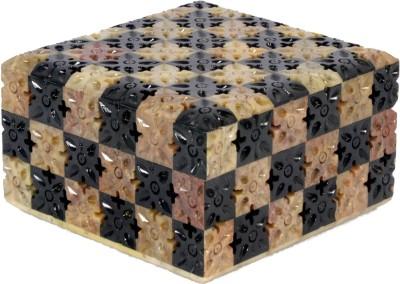 Avinash Handicrafts Stone Jwellery Box In Chess Work 4.5x4.5