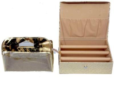 Kuber Industries Bangle Three Rod & Make Up Jewellery Vanity Box
