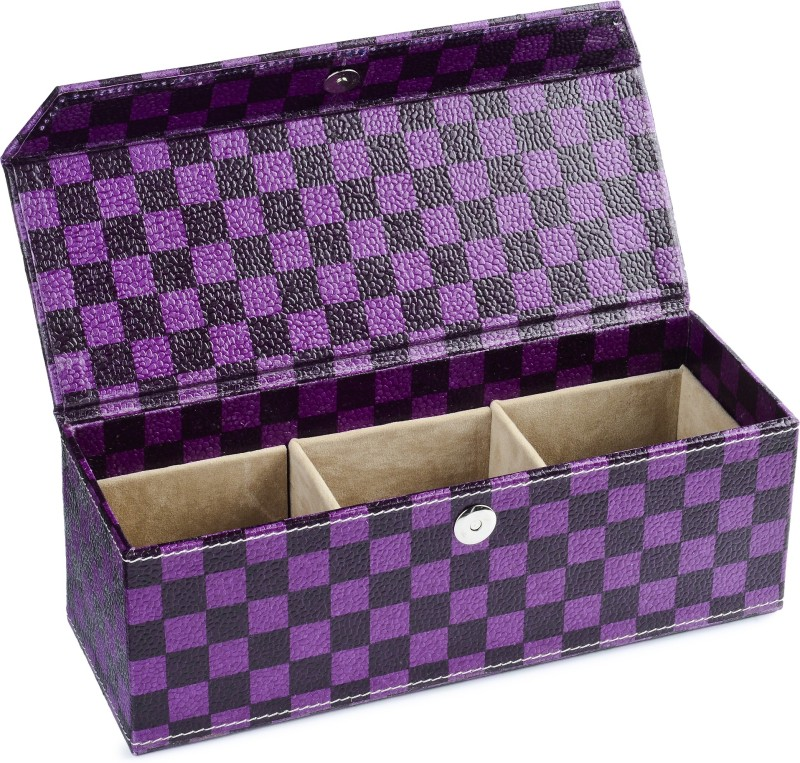 Ecoleatherette 3 Partition Bangles Vanity Box(Multicolor)