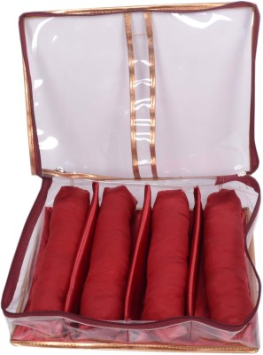 Styler Transparent Soft Bangle Pouch 4 Rod Fashion Vanity Box(Maroon)