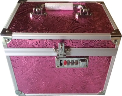 Platinum Cosmetic Box with Lock Makeup, Jewellery Vanity Multi Purpose
