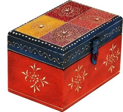 EMGEE INC Embossed Wooden Box Makeup and Jewellery Vanity Box