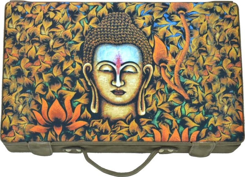 Kolet Buddha Enlightenment Tree Digital print Jewellary Box Vanity Box(Brown)