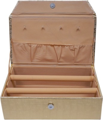 Fashion Atelier Two Row Storage For Bangles Vanity Box(Gold)