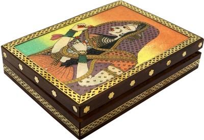 R S Jewels Wooden Gemstone Painting Handmade Jewellery Vanity Box