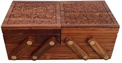 Crafts,man Sliding 3 in 1 Wooden Jewellery Box Perfect Gift for Anniversary, Wedding, Birthday Vanity Box
