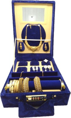 Lnc Blue Multi Purpose Premium Quality Jewelry Box Jewellary Storage Vanity Box