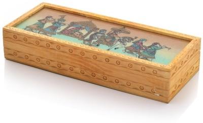 Mewar handicrafts Carved Gemstone Painted Wooden Box Handicraft Gift 354 VANITY BOX Vanity Box