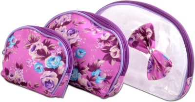 Styler Flower Printed Pouch Set of 3 Makeup Vanity Box