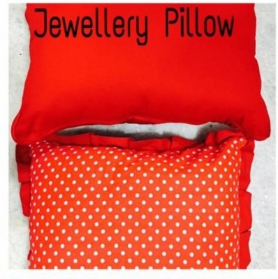 HanuEnterprises Jewellery Pillow with Pockets Makeup Vanity Box