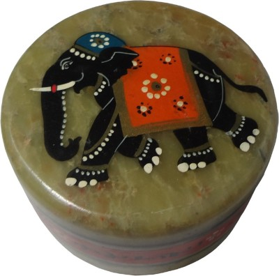 Avinash Handicrafts Soap Stone Elephant Painted 3