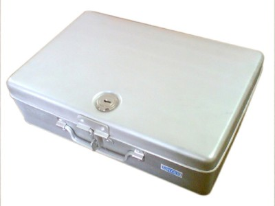 Jayco Aluminium Jewel Packing and Storage Box - Small Jewellery / Cash / Documents Storage / Packing / Shipping Vanity Box