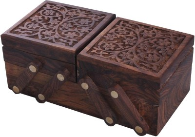 Crafts,man Handcrafted Sliding Wooden Decorative Jewellery Vanity Box