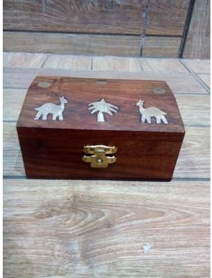 Onlineshoppee Wooden Hand Craved Jewellery Vanity Box