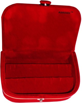 Abhinidi Set of 1 velvet ring storage travelling folder case Box Vanity Box(Maroon)