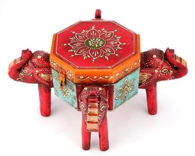 Indikala Elephant Headed Box Makeup and Jewellery Vanity Box
