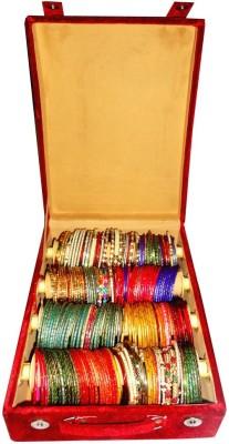 Atorakushon 4 Roll Rod Bangles Jewelry Storage Vanity Box