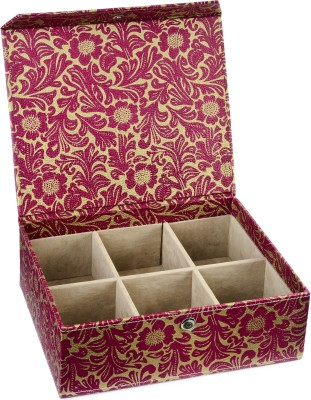 Ecoleatherette 6 Partition Bangles Vanity Box