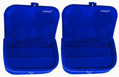 Abhinidi Set of 2 velvet ring storage travelling folder case Box Vanity Box(Maroon)