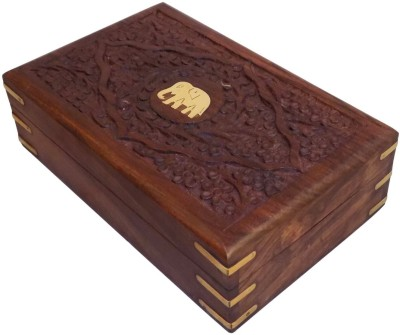 Crafts,man Beautiful Jewellery With Engraving Of Elephant Perfect Gift for Anniversary, Wedding, Birthday Vanity Box