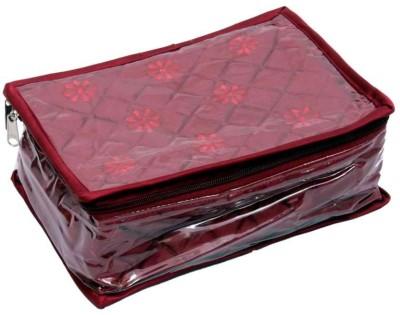 Kuber Industries Locker Jewllery Kit Maroon In Quilted Satin Five Flaps Makeup Vanity Box