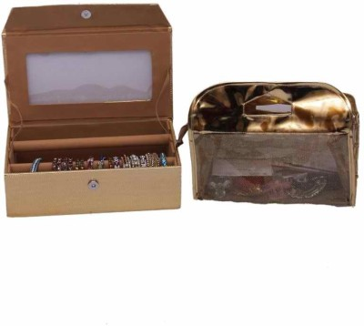 Kuber Industries Two Roll Bangle & Vanity Jewellery Vanity Box