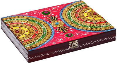 Aapno Rajasthan Wood And Clay Handcrafted Multipurpose Box Jewellery Vanity Box