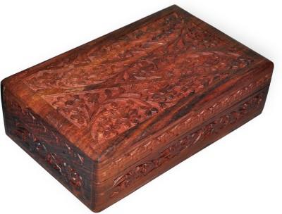 Dakshcraft Handmade Floral Hand Carved Makeup And Jewellery Vanity Box