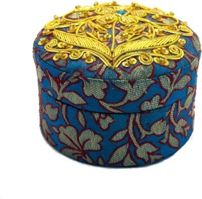Himalaya Handicraft Round Jewellery Vanity Box
