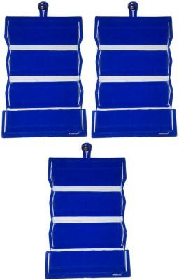 Abhinidi Set of 3 Maroon velvet coated Earring folder case Box Vanity Box