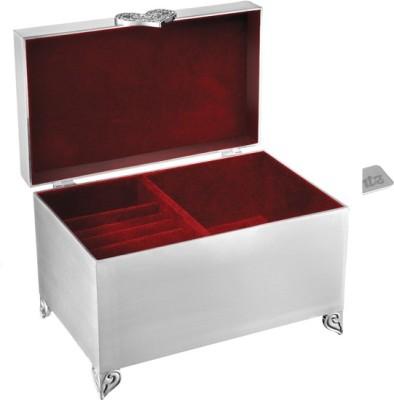 Treta Rectangle Wedding Box with Partition Jewelry Vanity Box