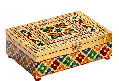 Aapno Rajasthan Rectangular With Floral Design Multiutility Vanity Box