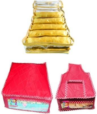 Atorakushon Combo Satin 5 Rods Bangle box Jewellery Box Saree & Blouse Cover Storage Case Vanity Box