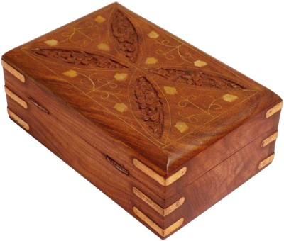 Crafts,man Beautiful Jewellery Box with Carving Perfect Gift for Anniversary, Wedding, Birthday. Vanity Box