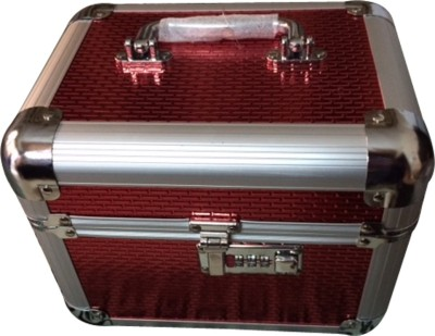 Platinum Cosmetic Box with lock Makeup, Jewellery Vanity Box