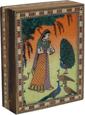 R S Jewels Indian Gem Stone Painting Wooden Jewellery Vanity Box