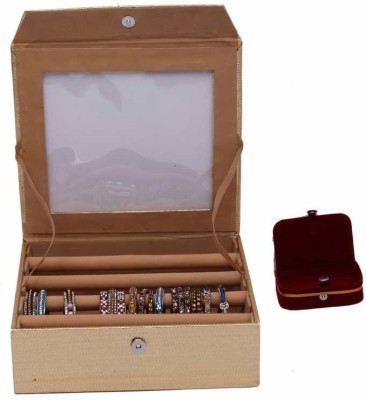 Kuber Industries Bangle Four Roll & Ring Box Jewellery Vanity Box