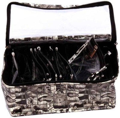 Kuber Industries Locker Jewellery With 10 Transparent Pouches Makeup Vanity Box