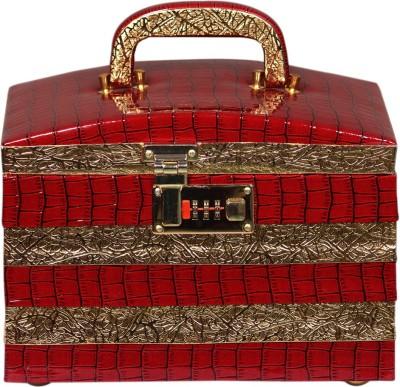 Leather World Premium Jewellery Vanity Box