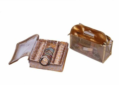 Kuber Industries Three Roll Bangle & Vanity Jewellery Vanity Box