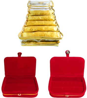 Atorakushon Satin 5 Rods Bangle box Jewellery Ring & Earring Storage Case Vanity Box