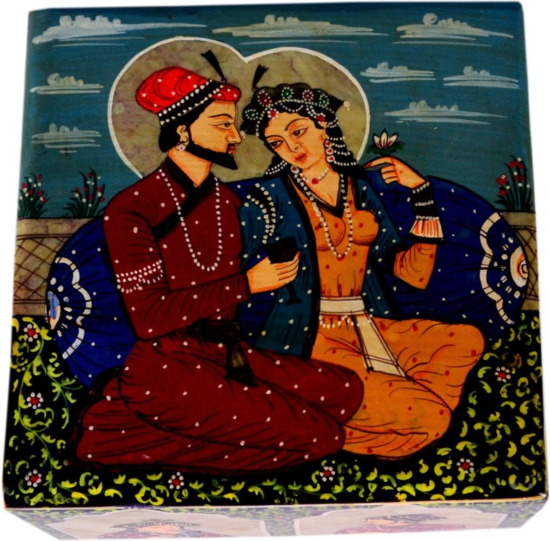 Avinash Handicrafts Soap Stone Painted jwellery Box 5x5