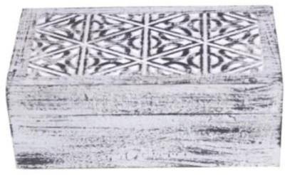 Onlineshoppee Wooden Handcraved Jewellery Vanity Box(White)