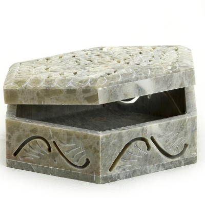 Aapno Rajasthan Stoneware Multiutiltiy Box With Tree Design Multiutility Vanity Box